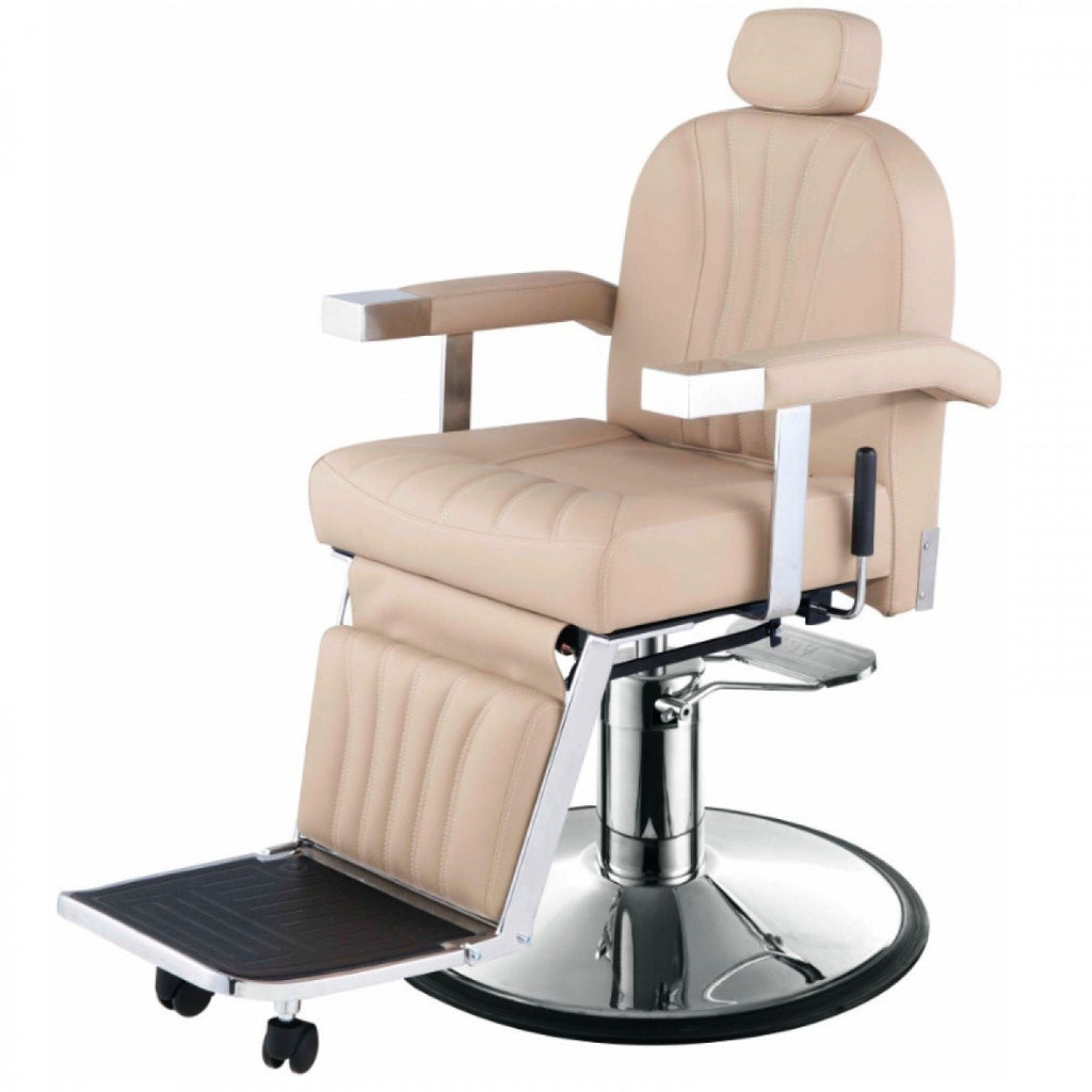 Cicero Barber Chair Khaki AGS Beauty - Discontinued - Barber Chairs