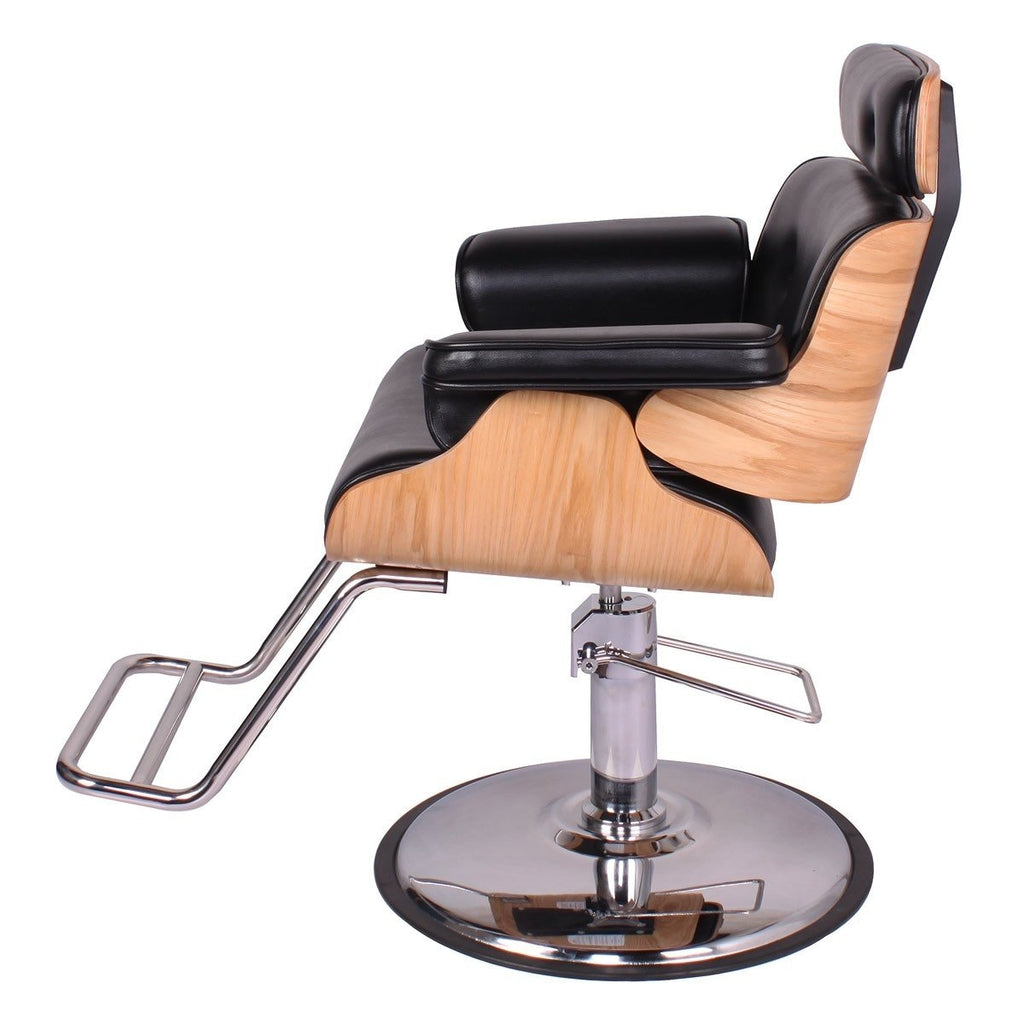 Cocoa Modern Salon Styling Chair Black AGS Beauty - Styling Chairs