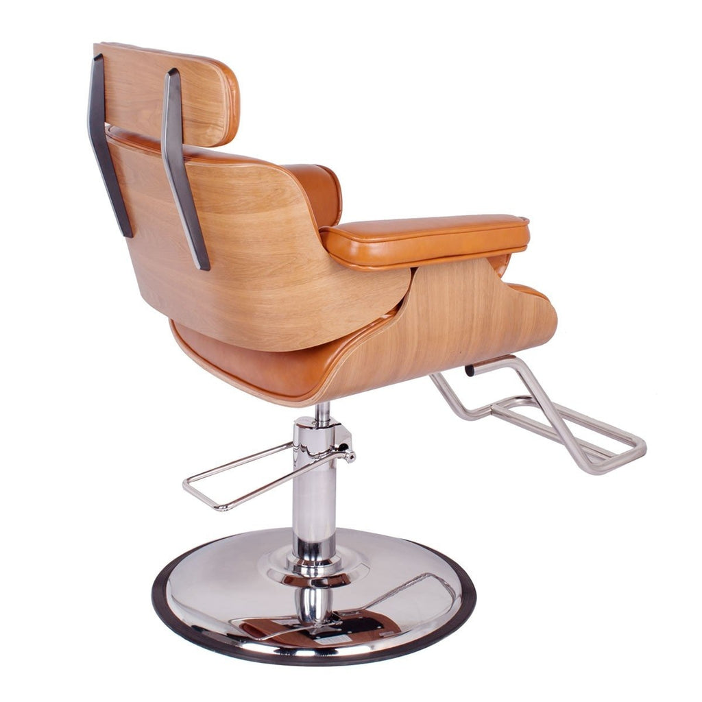 Cocoa Modern Salon Styling Chair Camel Brown AGS Beauty - Styling Chairs