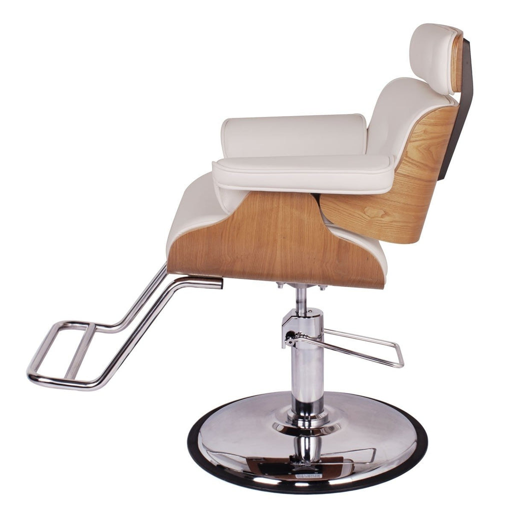 Cocoa Modern Salon Styling Chair White AGS Beauty - Styling Chairs