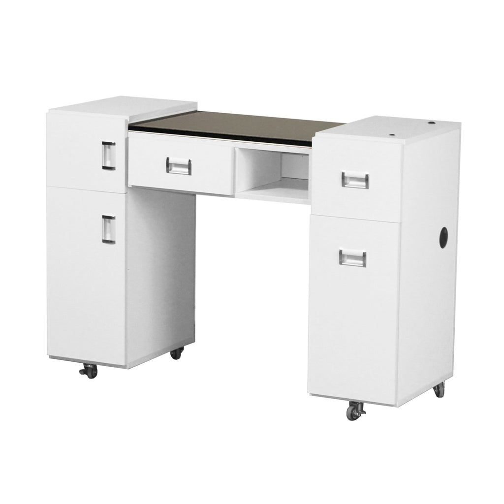Crystalli Aussi (A) Manicure Table White Deco Salon - Manicure Tables