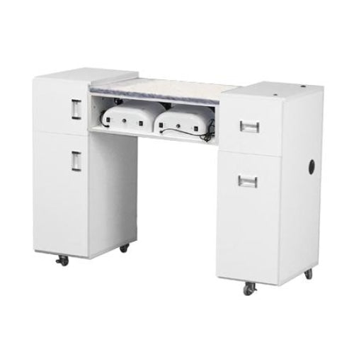 Crystalli Aussi (AUV) Manicure Table White Deco Salon - Manicure Tables