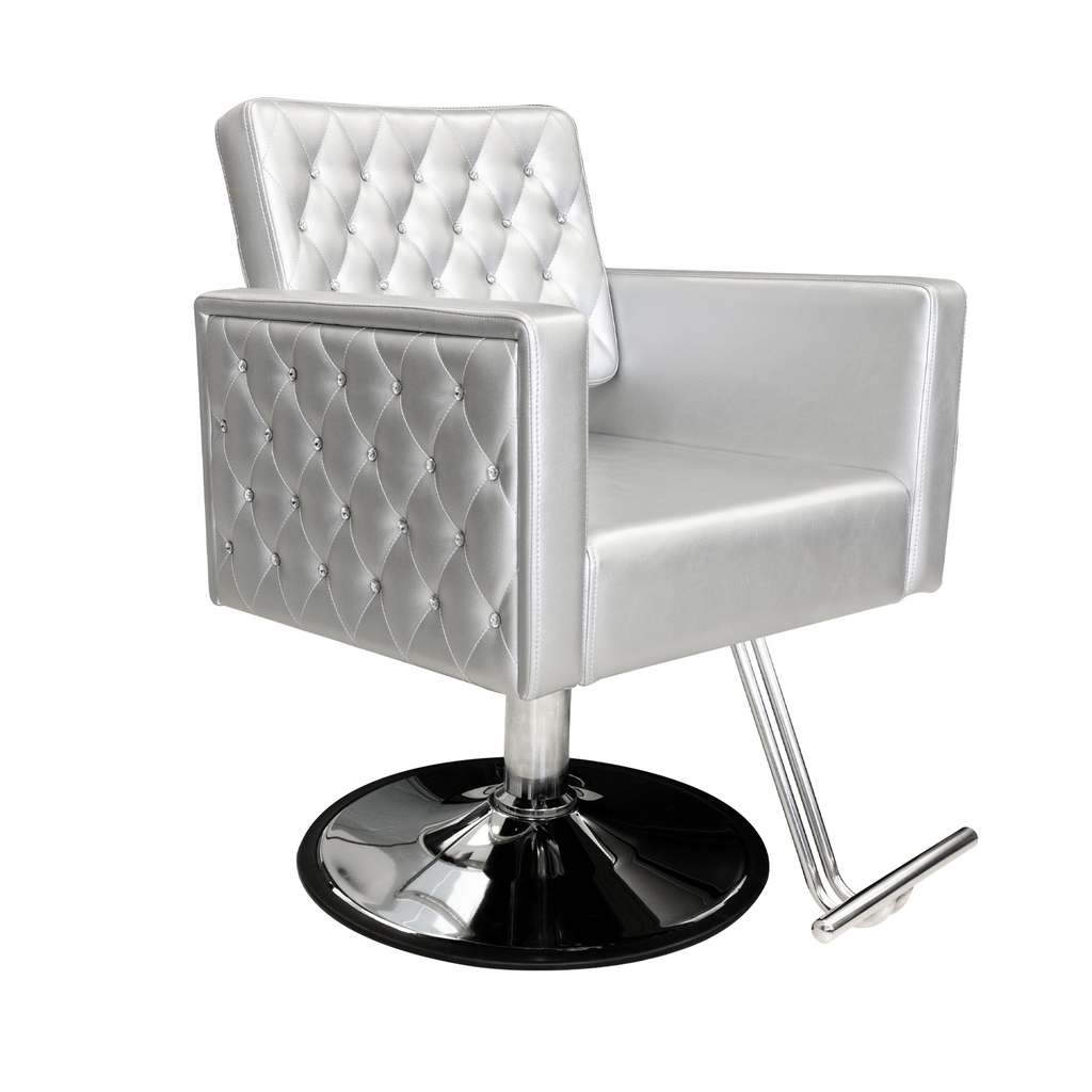 Crystalli Styling Chair Silver Deco Salon - Styling Chairs