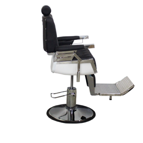 Custom Series Barber Chair Alligator Black Deco Salon - Barber Chairs