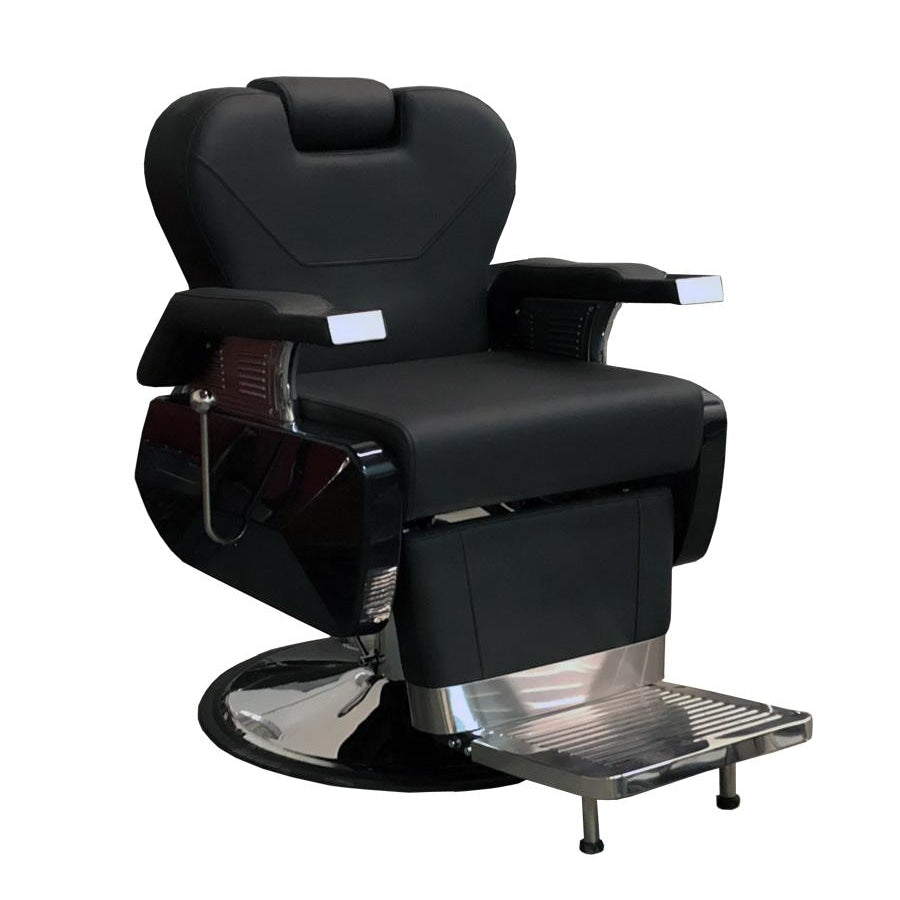 Davidson SS Barber Chair Black Deco Salon - Barber Chairs
