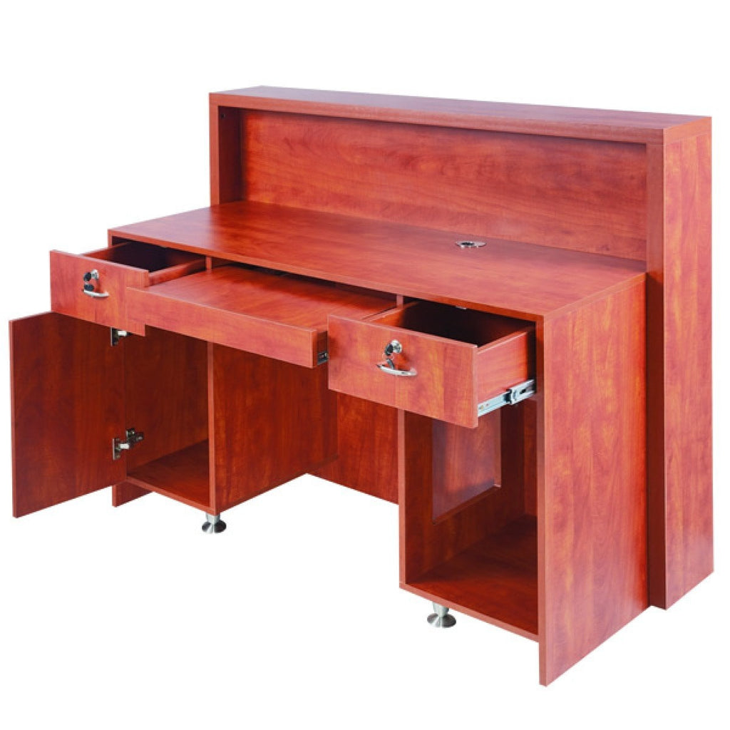 Delamere Salon Reception Desk Wild Cherry AGS-J-011C AGS Beauty - Reception Desks