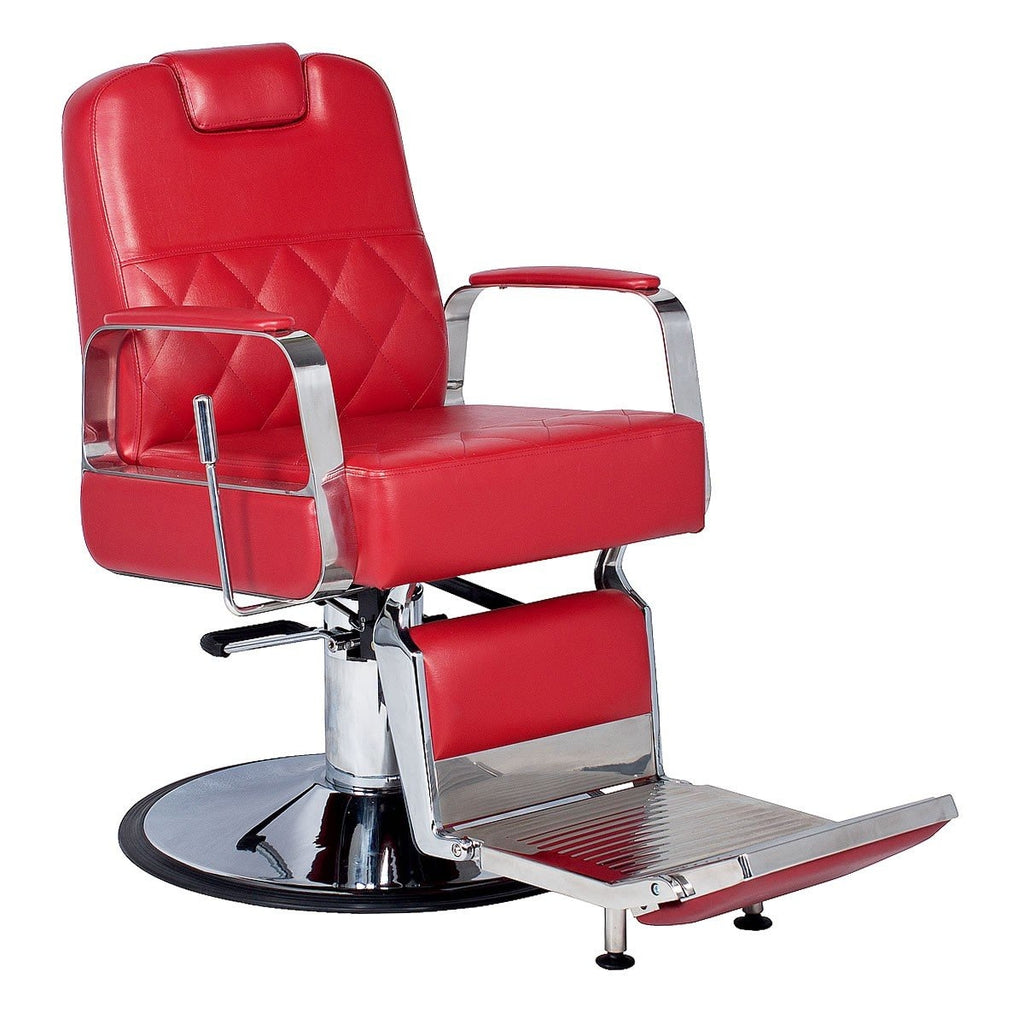 Duke Barber Chair Cardinal Red AGS Beauty - Barber Chairs