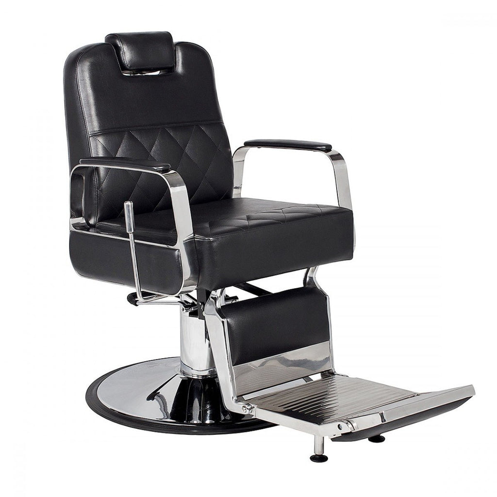 Duke Barber Chair Premium Black AGS Beauty - Barber Chairs