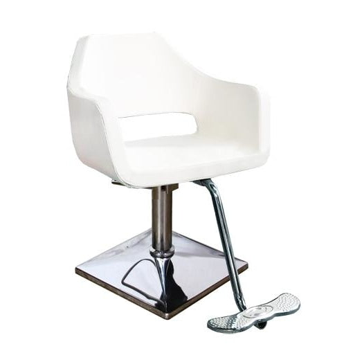Ecco Ava Styling Chair White Deco Salon - Styling Chairs