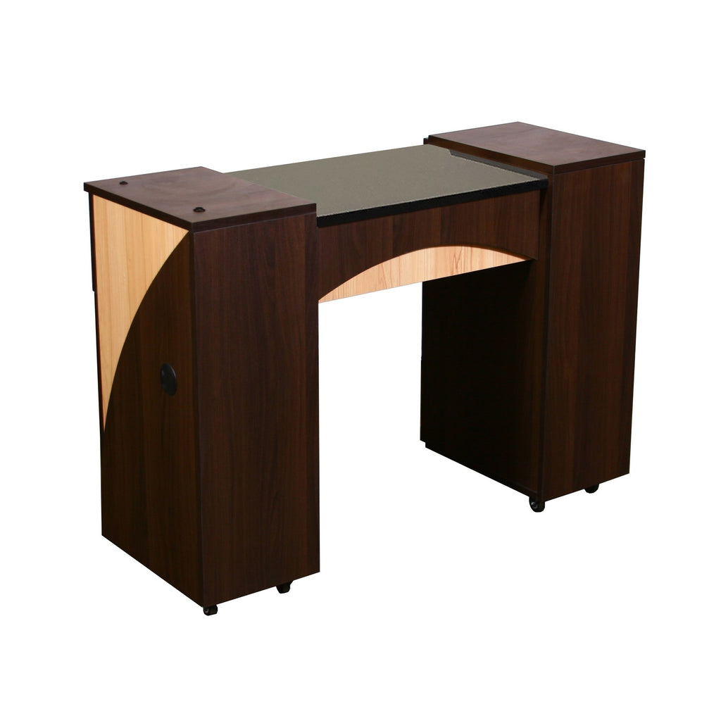 Edita (A) Manicure Table Chocolate Deco Salon - Manicure Tables