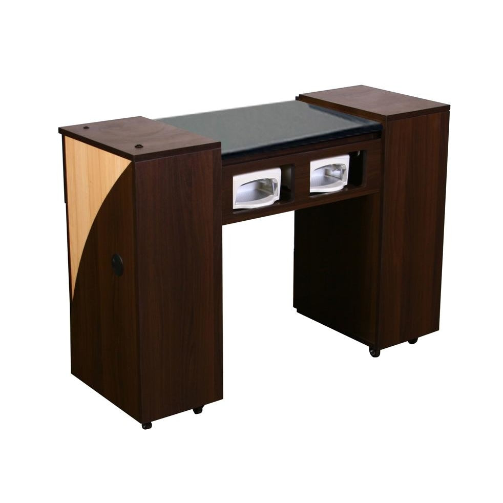 Edita (AUV) Manicure Table Chocolate Deco Salon - Manicure Tables
