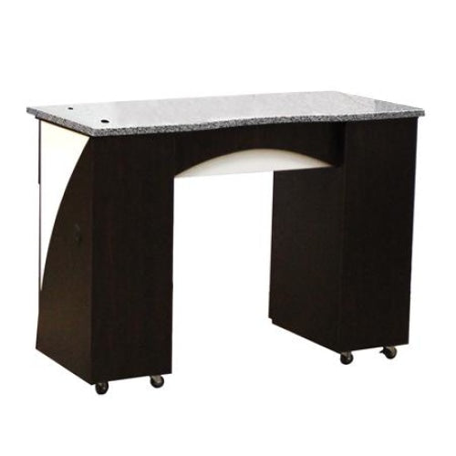 Edita (B) Manicure Table Dark Cherry Deco Salon - Manicure Tables