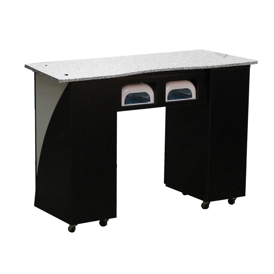 Edita (BUV) Manicure Table Black Deco Salon - Manicure Tables