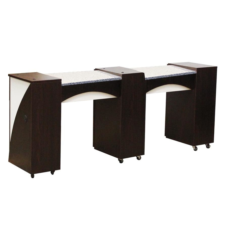 Edita (C) Manicure Table Dark Cherry Deco Salon - Manicure Tables