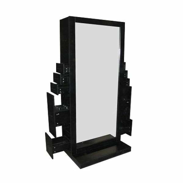 Elizabeth Double Sided Styling Station Black/White Deco Salon - Styling Stations