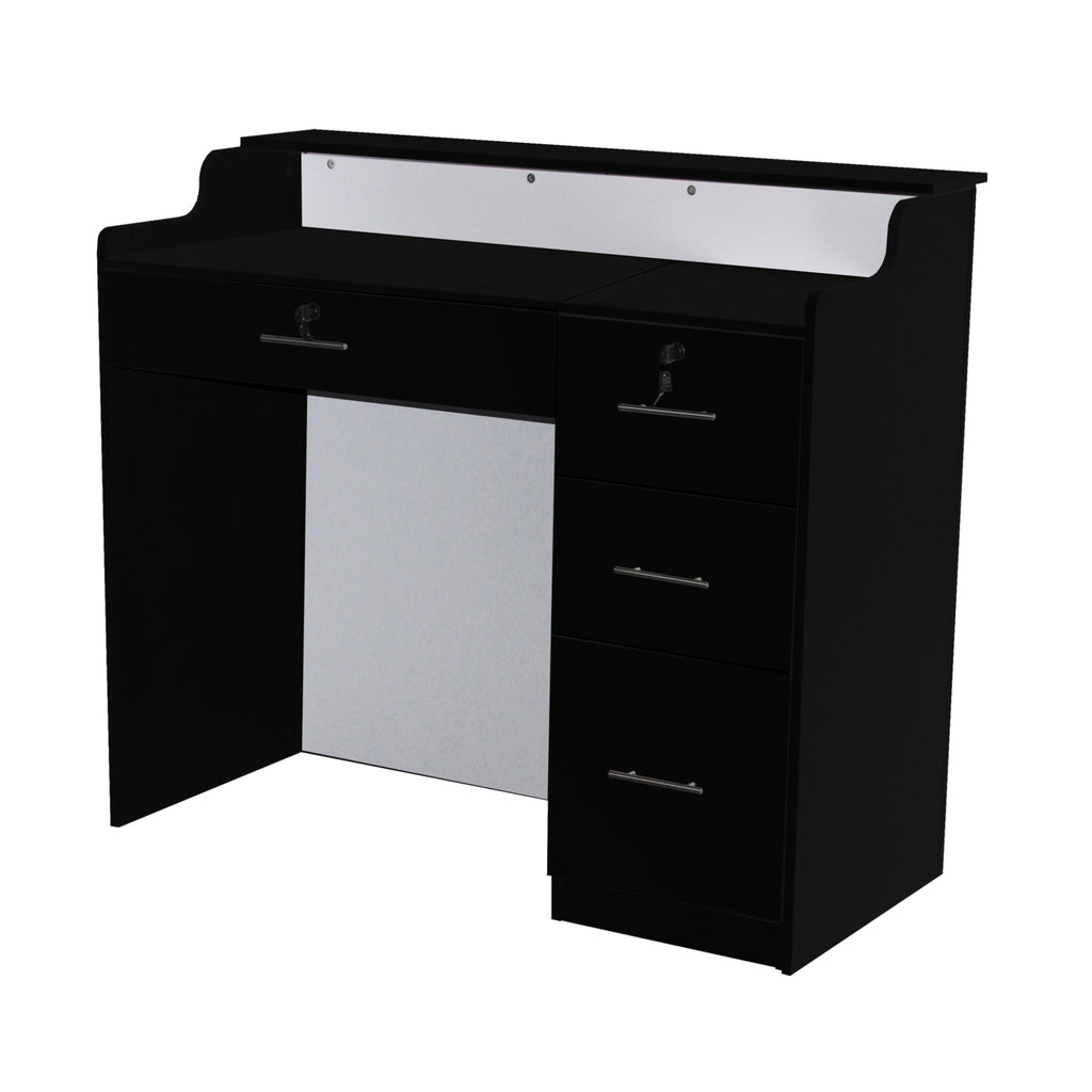 Elizabeth Reception Desk 48 Black/Red Deco Salon - Reception Desks