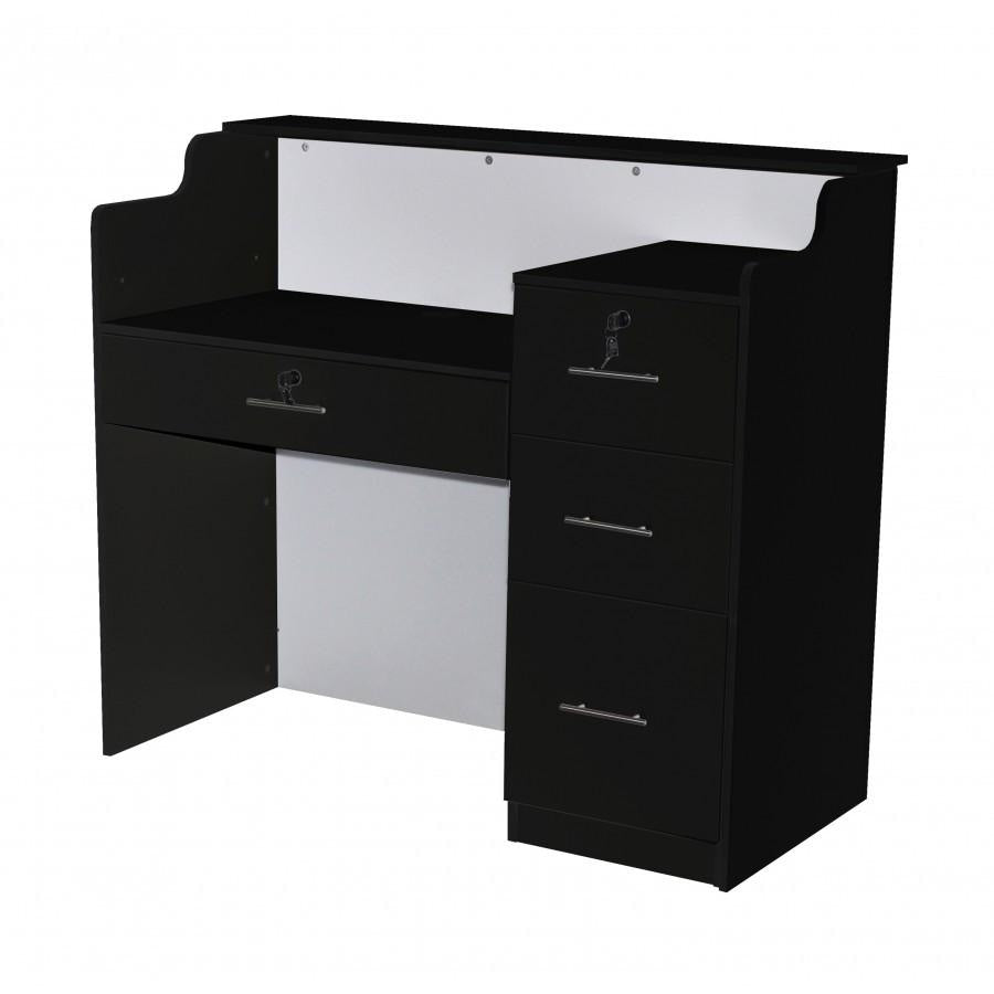 Elizabeth Reception Desk 48 Black/White Deco Salon - Reception Desks