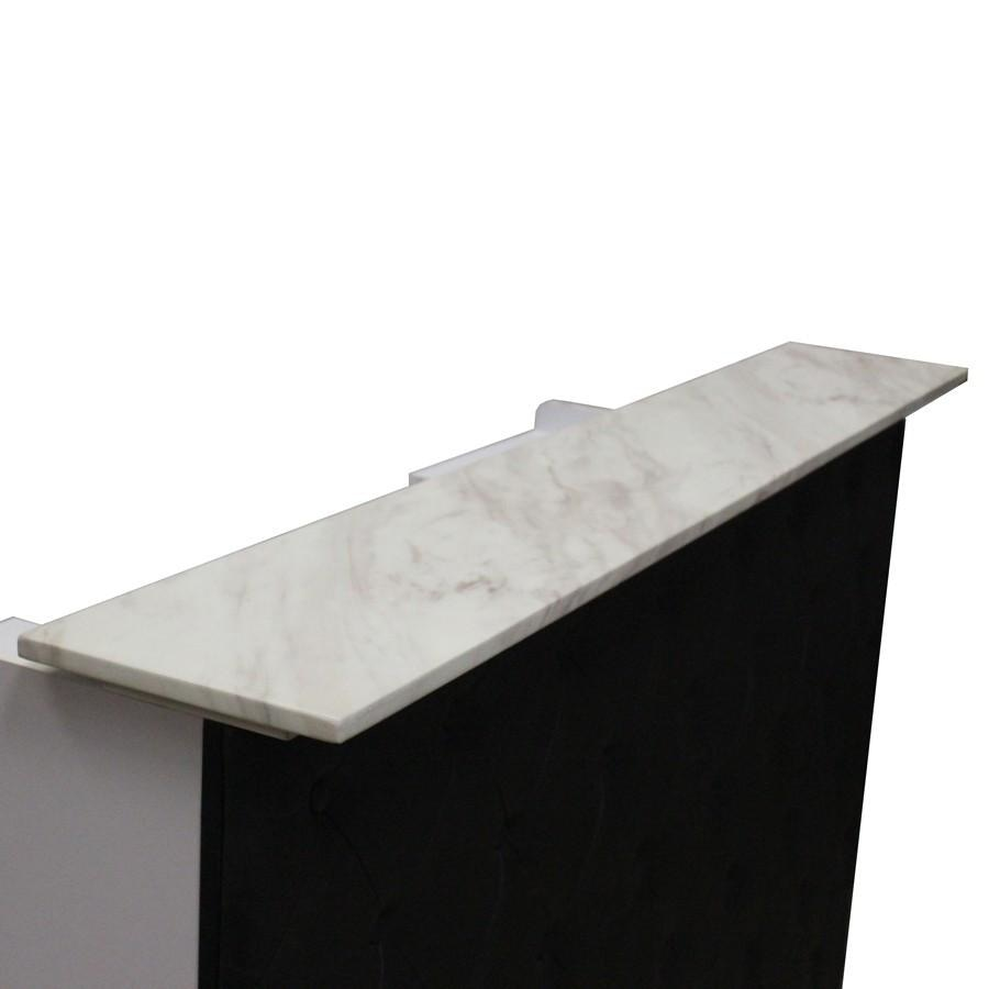 Elizabeth Reception Desk 60 Black/Red Deco Salon - Reception Desks