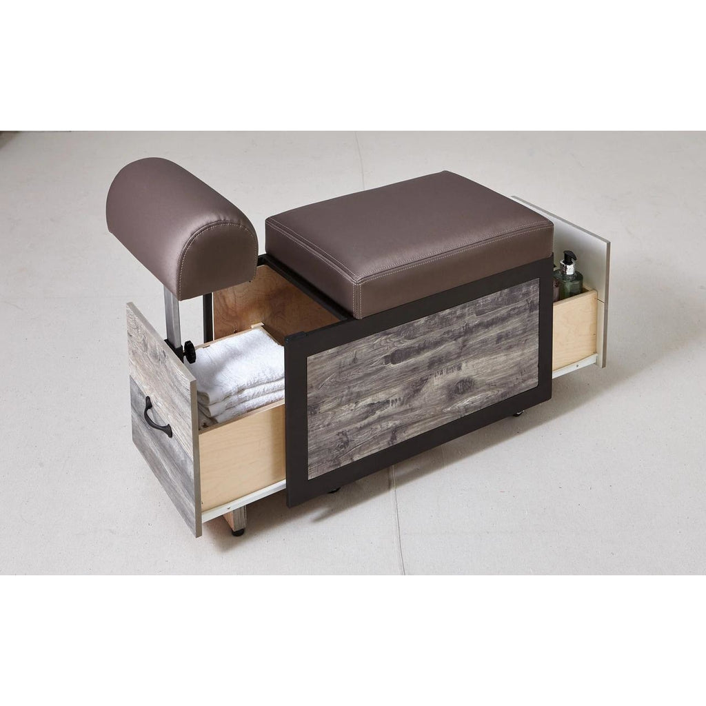 Elora Portable Pedicure Cart with Adjustable Foot Rest Belava - Trolleys