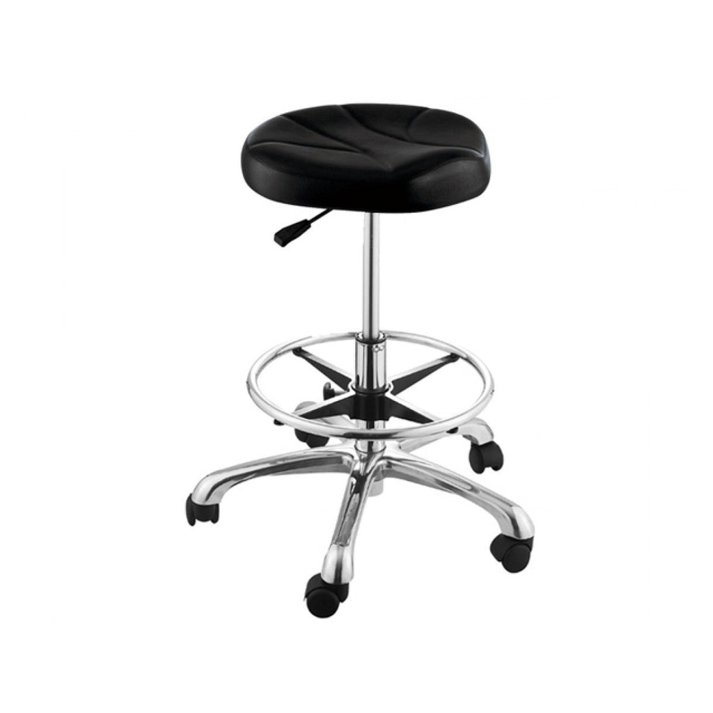 Erato Hairdressing Stool with Footrest Ring AGS Beauty - Stools