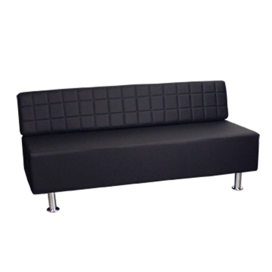 Fab Reception Bench Black Deco Salon - Waiting Benches