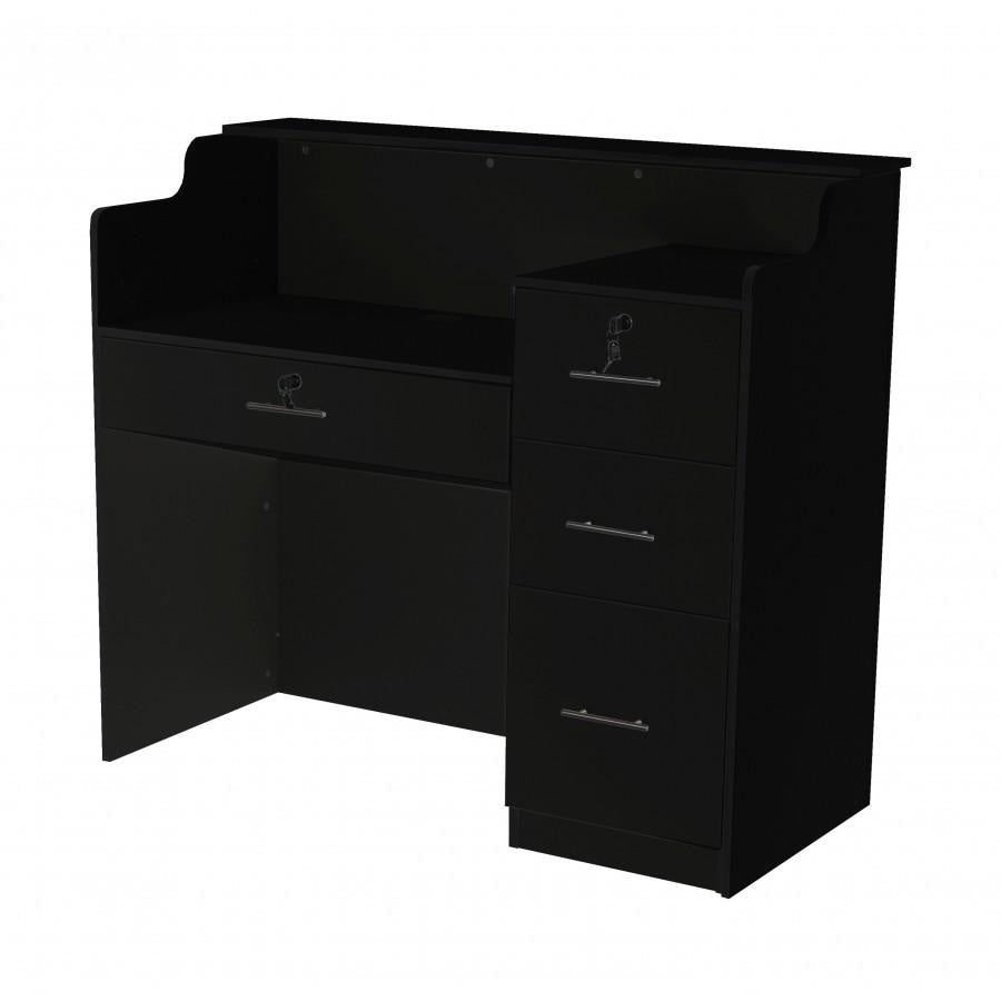 Fab Reception Desk 48 Black/Black Deco Salon - Reception Desks