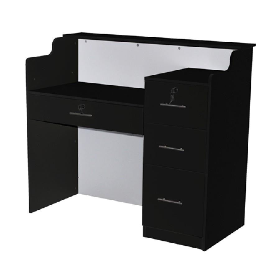 Fab Reception Desk 48 Black/White Deco Salon - Reception Desks