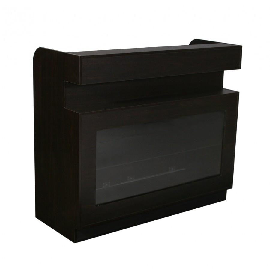 Falini HF Reception Counter Dark Cherry Deco Salon - Reception Desks
