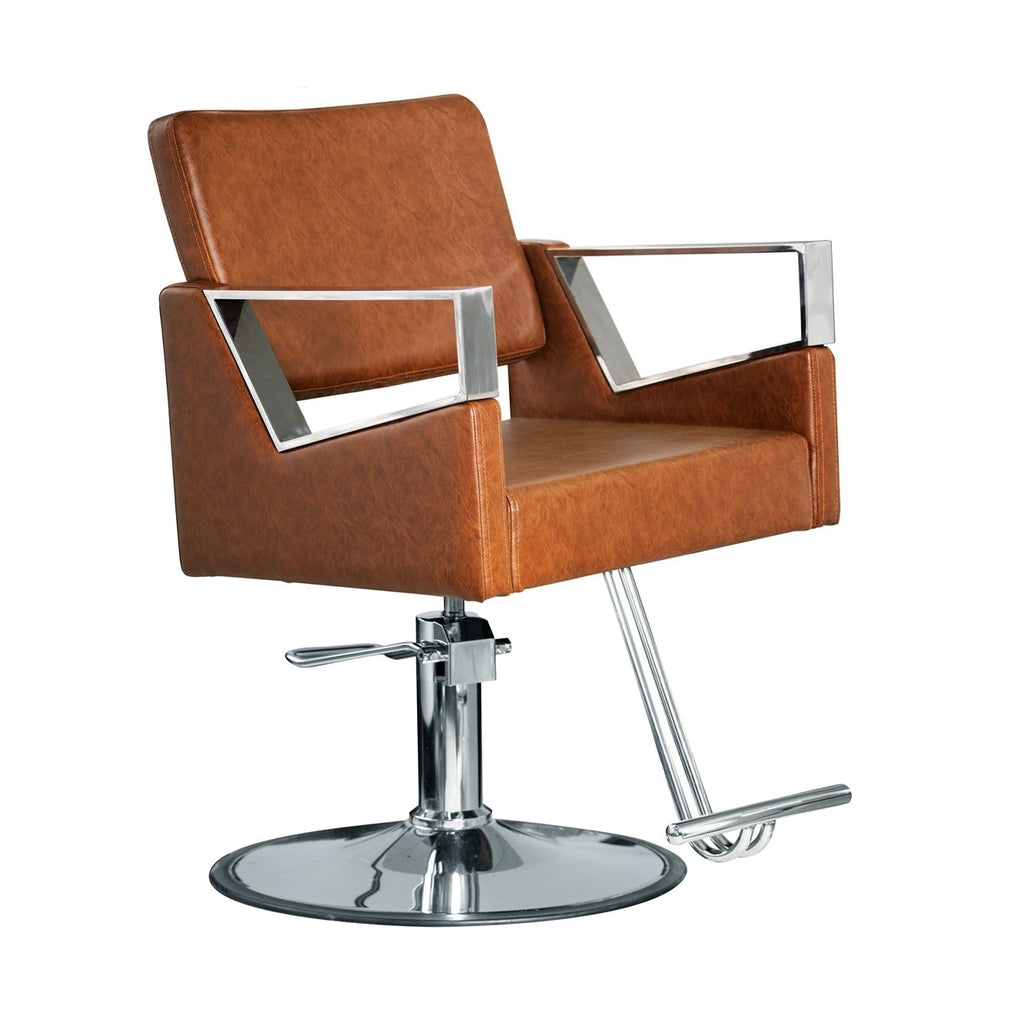 Fiore Styling Chair Vintage Brown Deco Salon - Styling Chairs