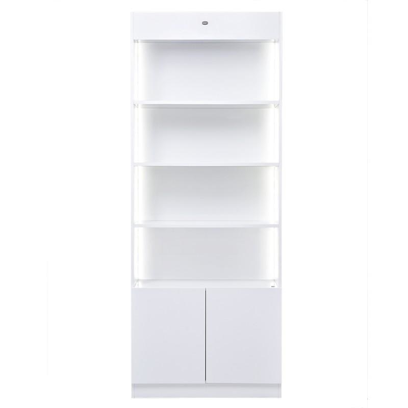Gems Retail Display Shelf White DIR - Retail Displays