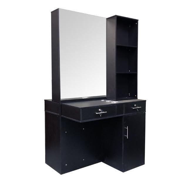 Jacklyn Double Sided Styling Station Black Deco Salon - Styling Stations