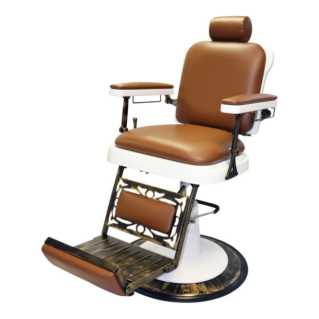 King Barber Chair 662 Tan Pibbs - Barber Chairs