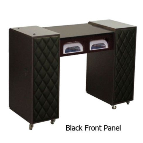 Le Beau (AUV) Manicure Table Dark Cherry Deco Salon - Manicure Tables