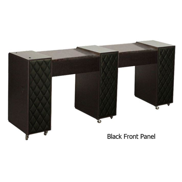 Le Beau (C) Manicure Table Dark Cherry Deco Salon - Manicure Tables
