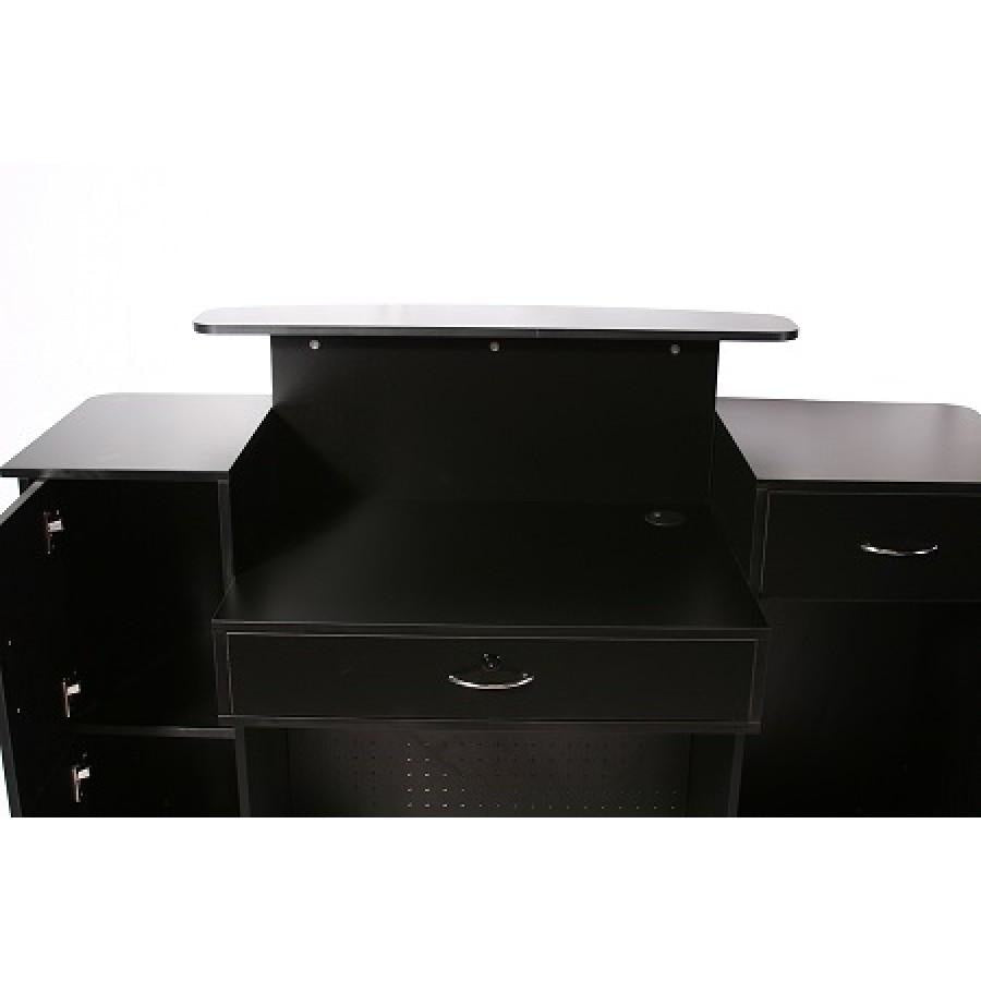Mandy Reception Desk Showcase Black Deco Salon - Reception Desks