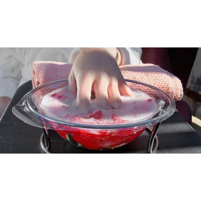 Manicure Bowl in Red with 20 Disposable Liners Belava - Accessories