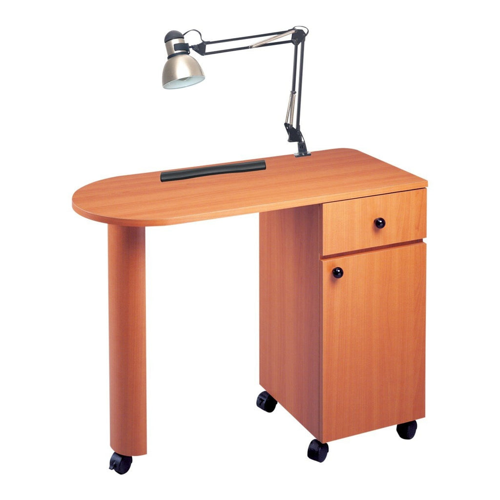Manicure Table with Lamp PN1020 Pibbs - Wild Cherry - Manicure Tables