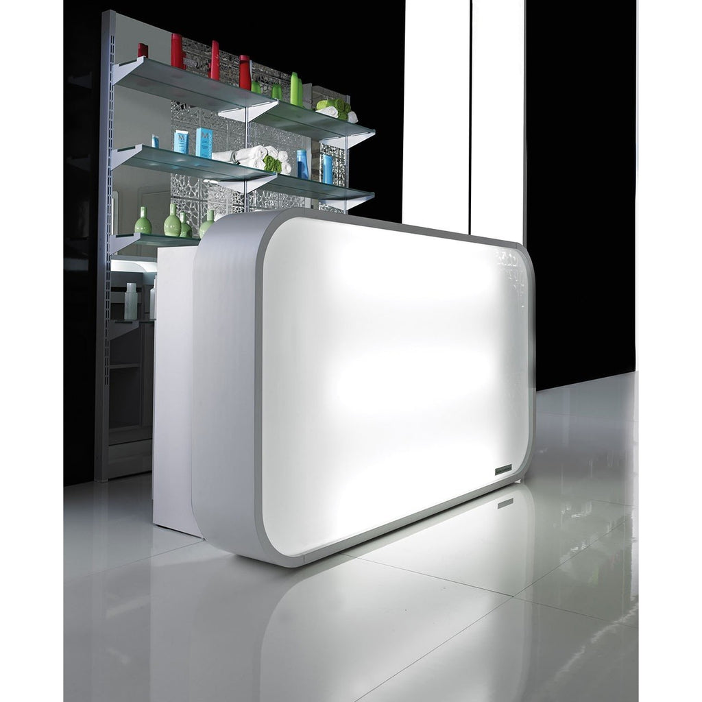 Matrix Italian Reception Desk w/ LED Lights Salon Ambience RD131 - Reception Desks