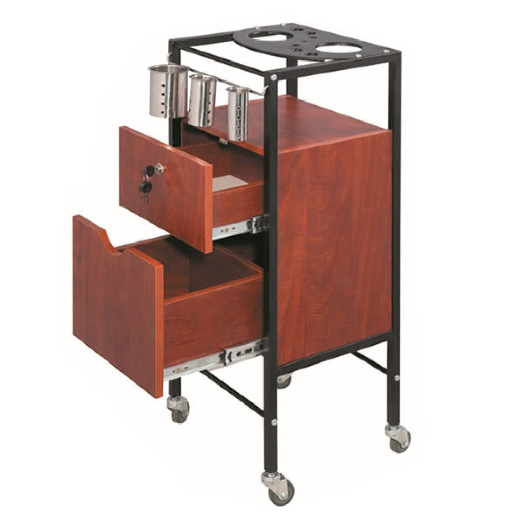 Meru Portable Salon Trolley Cart Wild Cherry AGS-F-015C AGS Beauty - Trolleys