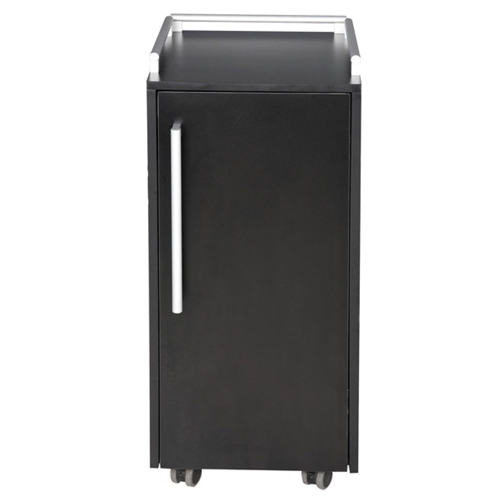 Navio Portable Salon Trolley Cart Premium BlackAGS-F-03 8B AGS Beauty - Trolleys
