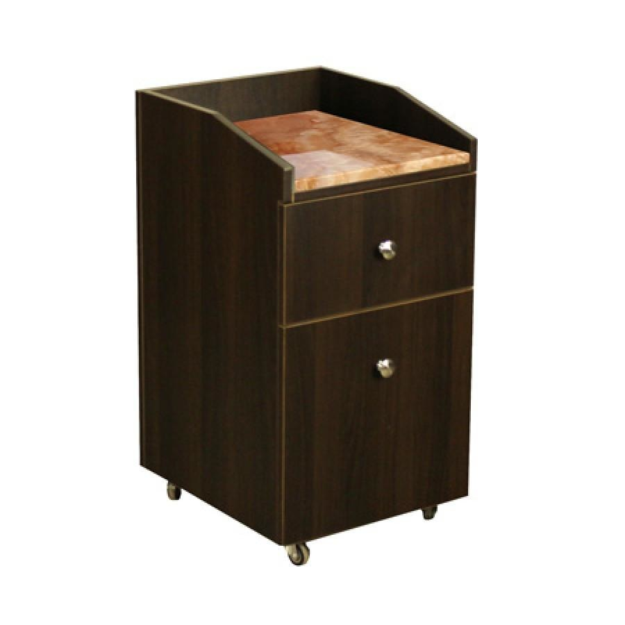 Neo Pedicure Cart with Granite Chocolate Deco Salon - Trolleys