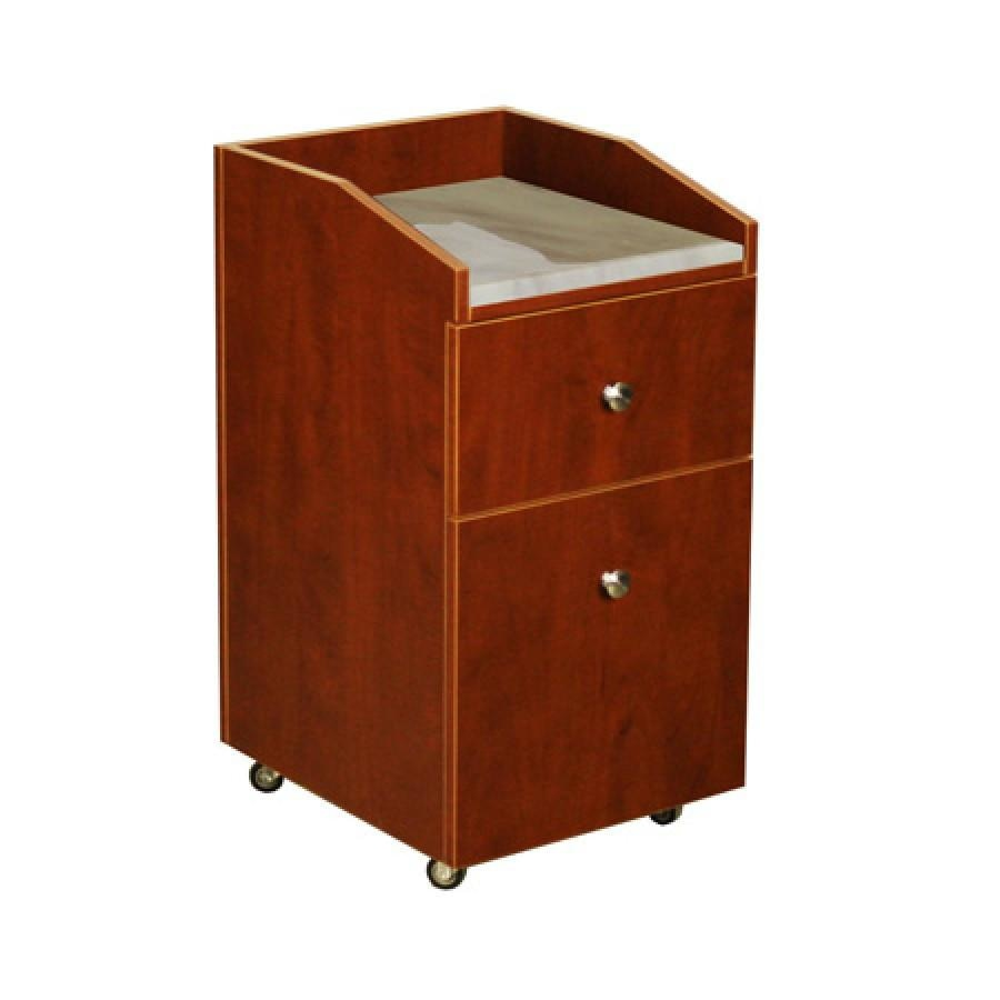 Neo Pedicure Cart with Granite Classic Cherry Deco Salon - Trolleys