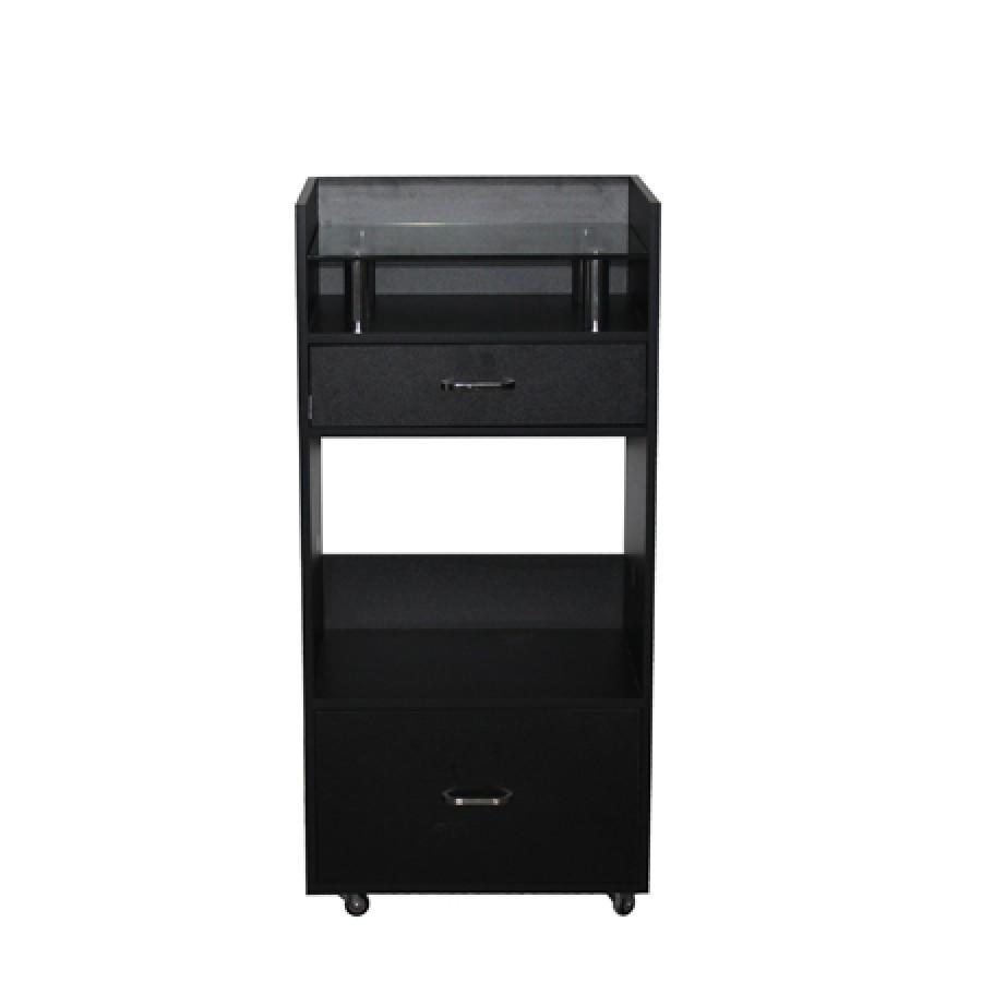 Nibu Accessory Cart Black Deco Salon - Trolleys