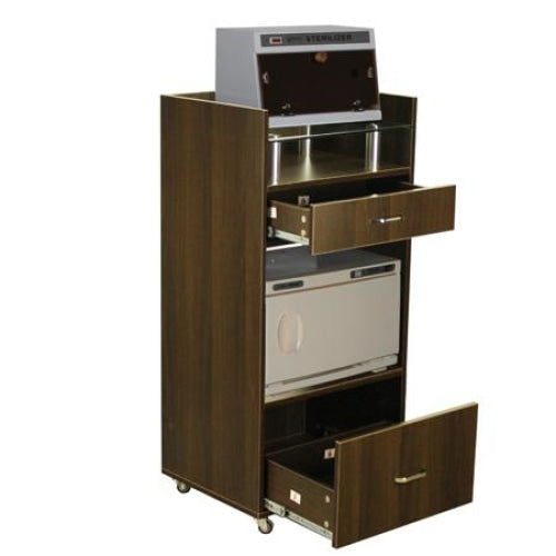 Nibu Accessory Cart Chocolate Deco Salon - Trolleys