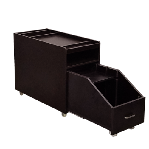Nikko Pedicure Cart Dark Cherry Deco Salon - Trolleys