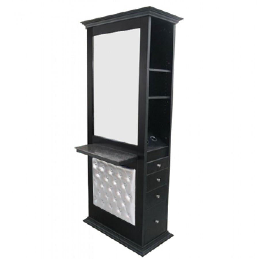 Nottingham E-Panel Double Sided Styling Station Black Deco Salon - Styling Stations