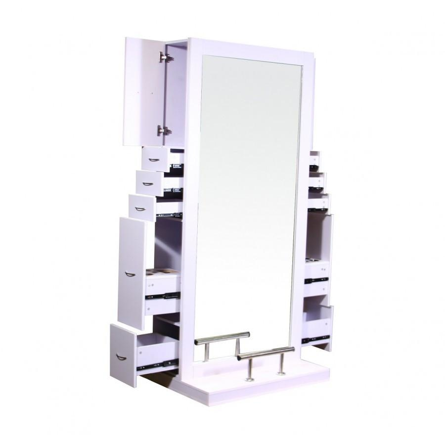 Odessey Double Sided Styling Station White Deco Salon - Styling Stations