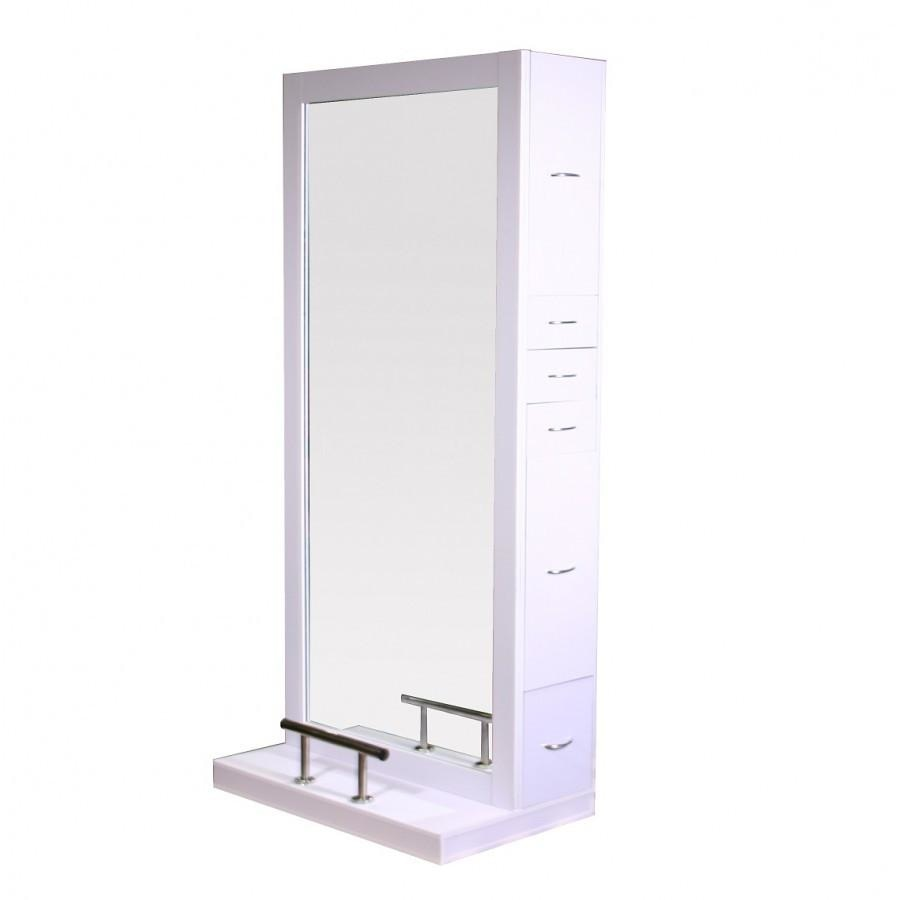 Odessey Single Side Styling Station White Deco Salon - Styling Stations