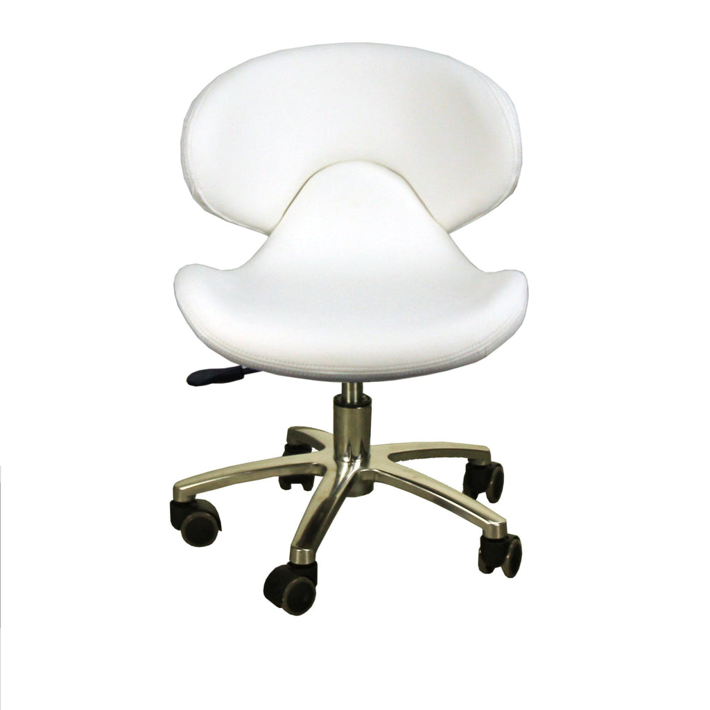 Orsola Pedicure Stool White Deco Salon - Stools