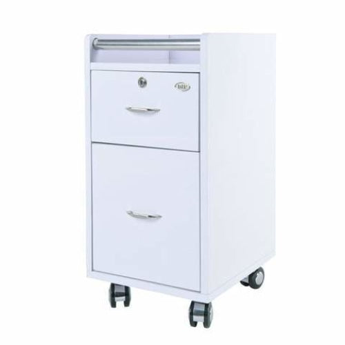 Pedi-Mani Trolley Cart White DIR - Trolleys